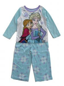 Disney Toddler Girls Frozen Anna Elsa Light Blue 2pc Pajama Set 2T-4T