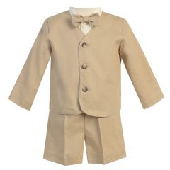 Lito Little Boys Khaki Eton Short Formal Ring Bearer Easter Suit 2T-5