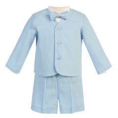 Lito Little Boys Light Blue Eton Short Formal Ring Bearer Easter Suit 2T-5