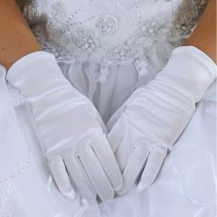 Angels Garment Baby Girls White Short Stylish Flower Girl Gloves 0-3M