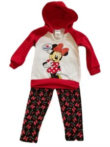 Baby Girls Red White Minnie Mouse Hoodie Legging Outfit 12-24M