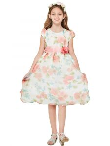 Good Girl Girls Multi-Color Floral Organza Party Easter Dress 2-14