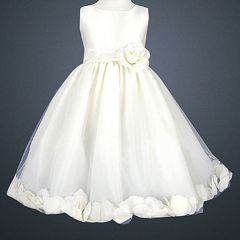 LITO Special Occasion IVORY Petal Wedding Flower Girls Dress 2T-12
