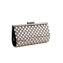 Hearty Trendy Black Gleaming Design Special Occasion Party Clutch Purse