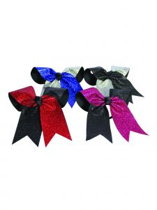 Pizzazz Girls Multi Color Glitter Twister Ponytail Holder Hair Bow