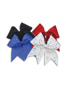 "Pizazz Girls Multi Color XL Scattered Stones 3"" Ribbon Hair Bow"