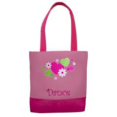 Sassi Girls Pink Hearts Flowers Dance Small Tote