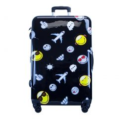 """ATM Luggage Black Happy Travel Double Zipper 22"""" Carry-on"""