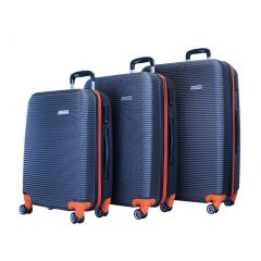 ATM Luggage Orange Wave Collection ABS Construction 3 Pc Suitcase Set