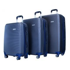 ATM Luggage Blue Wave Collection ABS Construction 3 Pc Suitcase Set