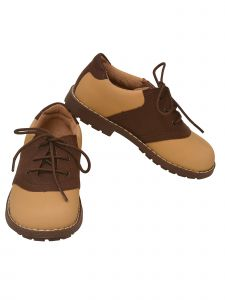 L`Amour Big Boys Brown Two Toned Lace Up Shoes 11-13 Kids