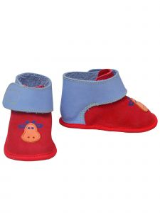 L`Amour Baby Boys Red Blue Hook and Loop Giraffe Boots 1-4 Baby