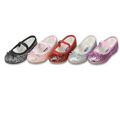 Little Girls Silver Glitter Slip On Dress Shoes 3