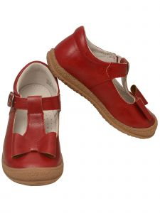 L`Amour Baby Girls Red Bow T-Strap Sporty Mary Jane Shoes 4 Baby