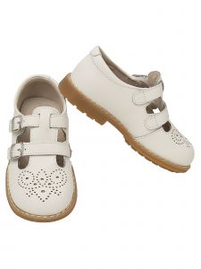 L`Amour Little Girls White Double Buckle T-Strap Mary Jane Shoes 5-10 Toddler