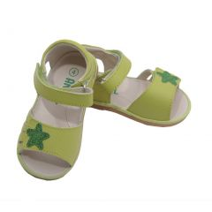 Angel Toddler Girls Lime Sparkly Star Strap Sandals 1-7 Toddler