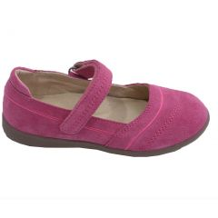 L'Amour Little Girls Fuchsia Sporty Nubuck Leather Mary Jane Shoes 5-10 Toddler