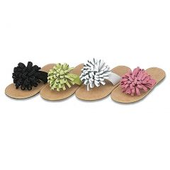 Toddler Girl Shoes Lime Green Curly Pom Sandals 10