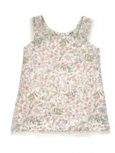 Coquelicot Little Girls Pink Floral Print Bow Isabella Sicilia Rosa Dress 2-5T