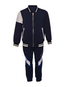 Island Kids & Kids Isle Big Boys Navy Zip Up Jacket And Pant Set 8-12