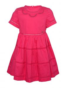 Island Kids & Kids Isle Little Girls Fuchsia Eyelet Dress 4-6