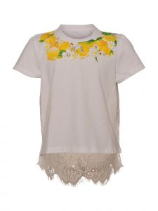 Island Kids & Kids Isle Little Girls White Lace T-Shirt 4-6