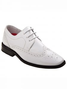 Joseph Allen Boys White Lace Up Oxford Dress Shoes 5 Toddler-4 Kids