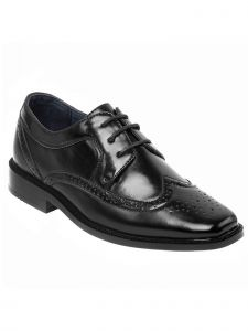 Joseph Allen Boys Black Lace Up Oxford Dress Shoes 5 Toddler-4 Kids