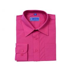 JB World Big Boys Fuchsia Long Sleeve Button Front Uniform Dress Shirt 8-20