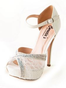 Sweetie's Shoes Womens White Katie Lace Rhinestone Ankle Strap Sandals 5.5-11