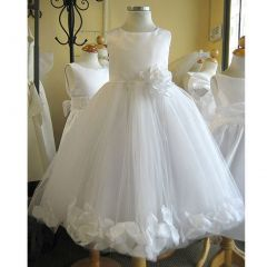 Kids Dream Little Girls White Petal Flower Girl Dress 8