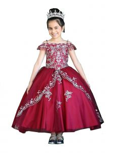 Calla Collection Girls Multi Colors Off-Shoulder Sparkle Ball Gown Dress 3-16