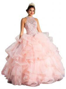 Calla Collection Women's Multi Color Multi Layered Ball Gown Pageant Dress 2-16