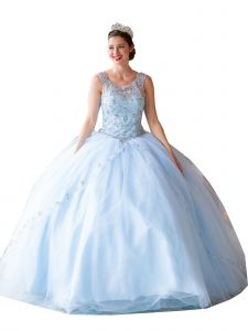 Calla Collection Women's Multi Color Sparkly Embroidered Ball Gown Dress 2-16