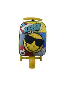 ATM Luggage Kids Yellow 3D Shell Scootie  Luggage 24x12x11