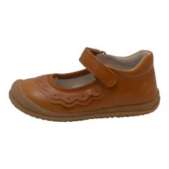 L'Amour Girls Gold Leather Ruffle Detail Mary Jane Shoes 11-12 Kids