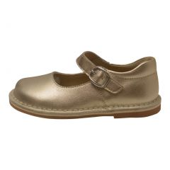 L'Amour Girls Gold Classic Matte Leather Mary Jane Shoes 4 Baby-10 Toddler