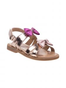 Laura Ashley Little Girls Multi Color Metallic Bows Flat Sandals 5-10 Toddler