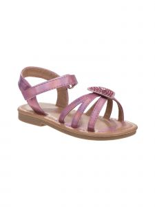 Laura Ashley Little Girls Multi Color Stone Heart Strap Sandals 5-10 Toddler