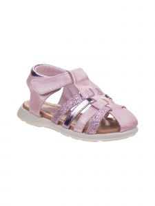 Laura Ashley Little Girls Pink Glitter Close Toe Sandals 8 Toddler