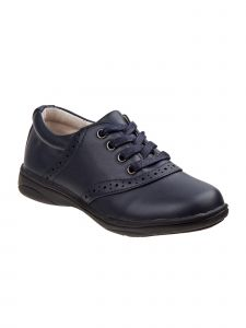 Laura Ashley Girls Navy Lace-Up Laser Cut Detail Casual Shoes 11-7 Kids