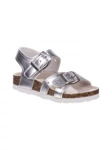 Laura Ashley Little Girls Silver Buckle Closures Sandals 5-10 Toddler
