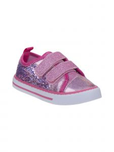 Laura Ashley Little Girls Pink Multi Color Sequins Sneakers 8 Toddler
