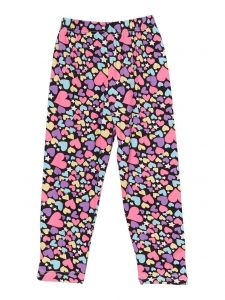 Wenchoice Girls Multi Color Rainbow Heart Star Ice Silk Leggings 9M-8