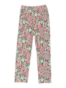 Wenchoice Girls Multi Color Rose Flower Print Ice Silk Leggings 9M-8