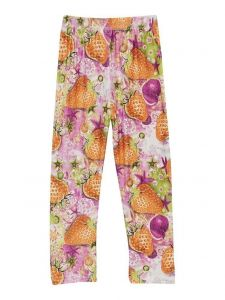 Wenchoice Girls Multi Color Strawberry Print Ice Silk Leggings 9M-8