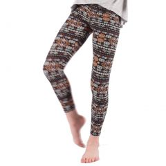 Lori&Jane Girls Purple Abstract Floral Inspired Print Stretchy Leggings 4-12