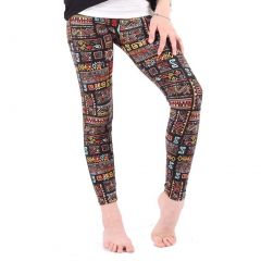 Lori&Jane Girls Multi Color Aztec Inspired Print Stretchy Leggings 4-12