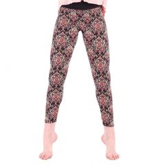 Lori&Jane Girls Multi Oriental Art Deco Mixed Print Stretchy Leggings 4-12