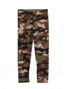 Lori Jane Little Girls Olive Tan Camo Stretchy Leggings 4-5